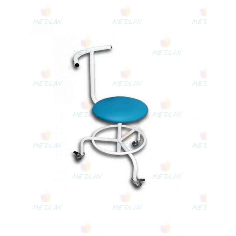 Стілець гвинтовий пересувний зі спинкою і підставкою для ніг СВПС